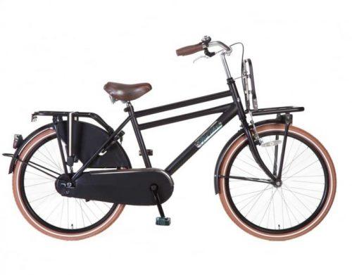 Transportfiets Popal Daily Dutch Jongensfiets 24 inch Mat Zwart