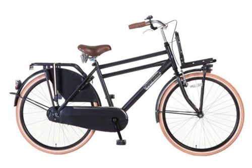 Transportfiets Popal Daily Dutch Jongensfiets 26 inch Mat-zwart